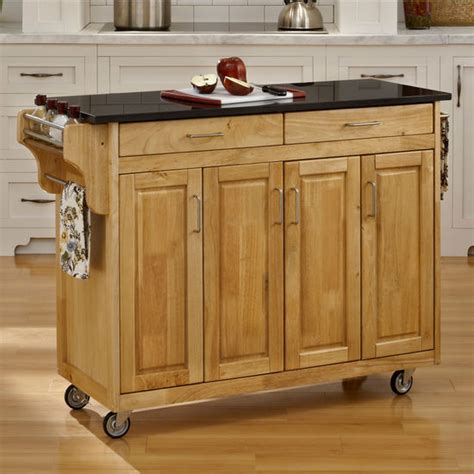 natural finish granite top kitchen island cart kitchen carts mix and match create a cart natural finish