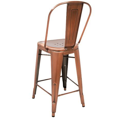 Bistro Style Bar Stools by Bistro Style Metal Bar Stool In Copper Finish