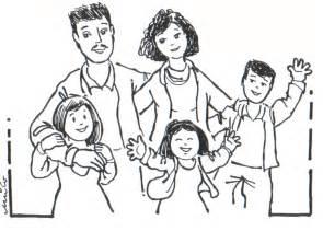 famiglia 7 disegni bambini da colorare