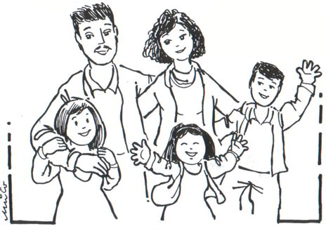 coloring page of family free coloring pages of family
