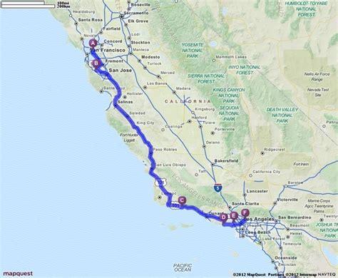 california map driving distances california college tour berkeley stanford