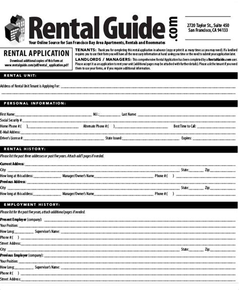 Apartment Lease Application Process Applying For An Apartment Home Design