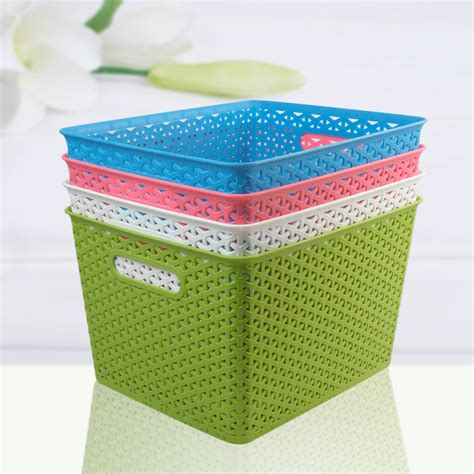 plastic bin laundry basketstorage her china mainland storage 3318 queen laundry basket woven plastic shoes and bags