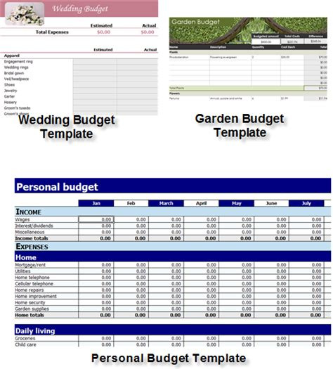 Download Excel templates for easy and effective budgeting