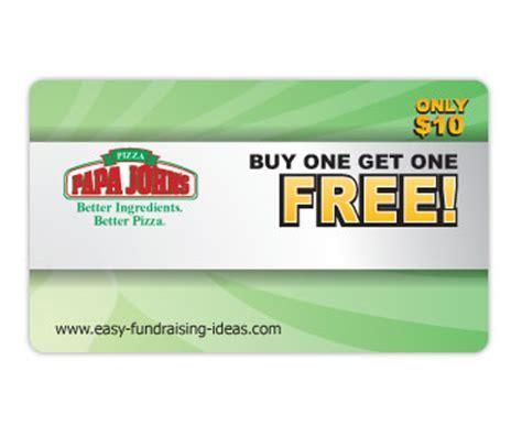 Free Papa Johns Gift Card - papa john s fundraiser pizza cards papa john pizza coupons for 20 free pizzas