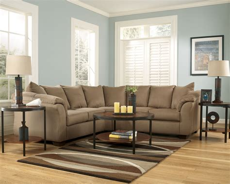ashley mocha sectional ashley furniture darcy mocha sectional the classy home