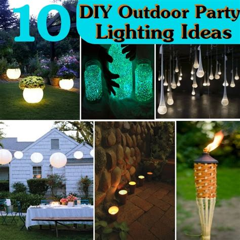 diy backyard lighting ideas 10 diy outdoor party lighting ideas sreen at the foord