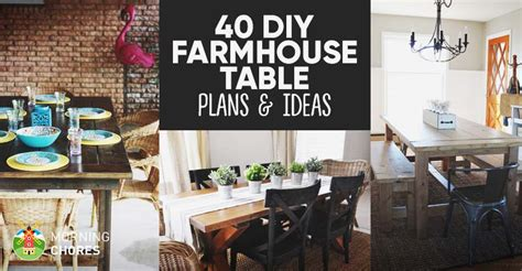 Diy Home Decor Projects On A Budget 40 Diy Farmhouse Table Plans Amp Ideas For Your Dining Room