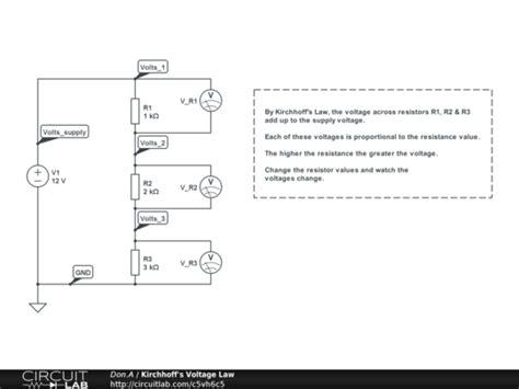 resistors kirchhoff s kirchhoff s voltage demo circuitlab