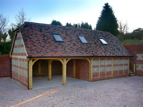 Barn Style Garage by Oak Buildings Amp Accommodation Brookwood Oak Barns