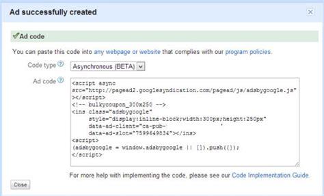 adsense js code implementing google adsense asynchronous tag responsive