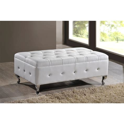white bedroom bench baxton studio brighton contemporary faux leather bedroom