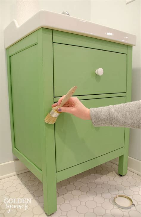 chalk paint ikea green ikea custom bathroom vanity the golden sycamore