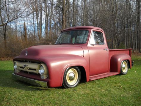 53 Ford F100 53 Ford F100 Bed Stepside New Build Custom Lowered