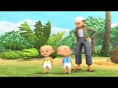 film upin ipin terompah opah full 3d robot yak animation movies for children cartoon