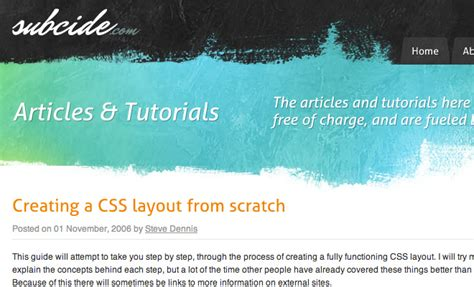 creating css layout from scratch 20 great psd to html css conversion tutorials stunning feed