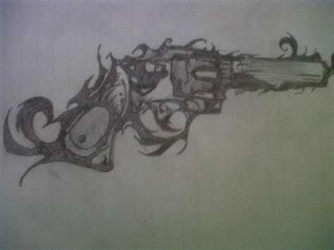 Cool Gun By Rwelch154 On Deviantart Cool Drawings Of Shooting 2