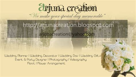 wedding decorator names the name of en keemai designing business card for arjuna
