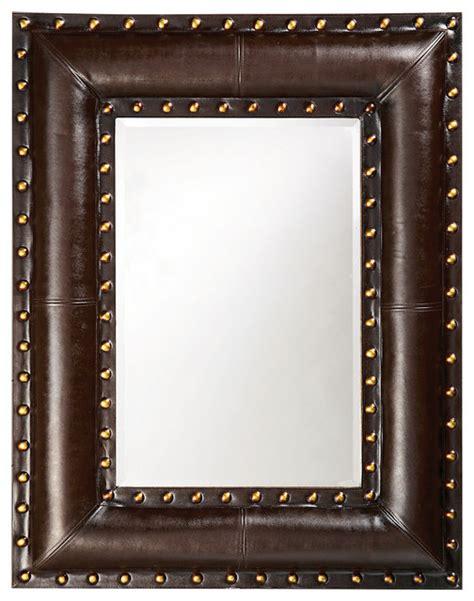 Design Ideas For Howard Elliott Mirrors Unique Howard Elliott Palermo Brown Leather Mirror Home Decor Southwestern Wall Mirrors