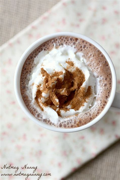 frozen hot chocolate vitamix vitamix hot chocolate nutmeg nanny