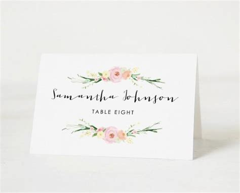 wedding place cards templates printable place card template wedding place cards