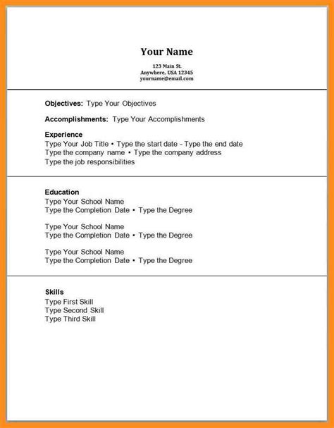 Resume Template With No Experience by 6 Resume For Beginners With No Experience Mystock Clerk