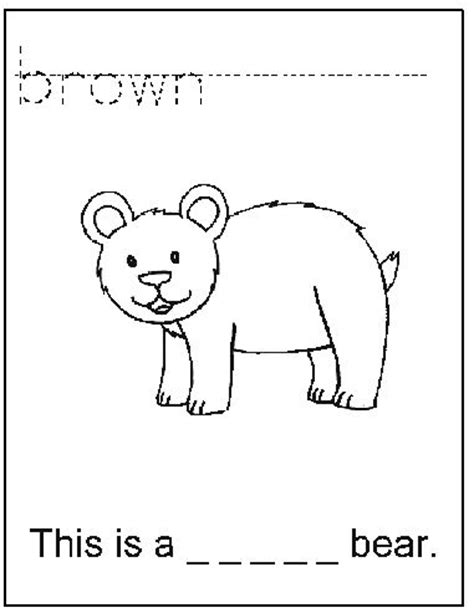 brown coloring pages preschool 38 best images about preschool hibernation on pinterest