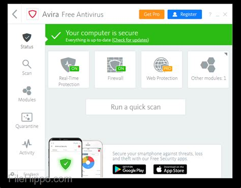 Anti Virus Avira avira free antivirus 15 0 32 12 filehippo