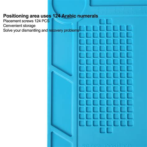 Blue Heat Insulation Silicone Mat Pad Repair Kit For Mobile Phone Comp kaisi s 130 heat insulation silicone pad