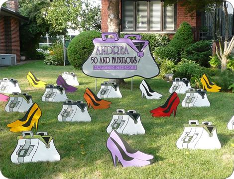 click on 50 birthday lawn ornament http www hellopink