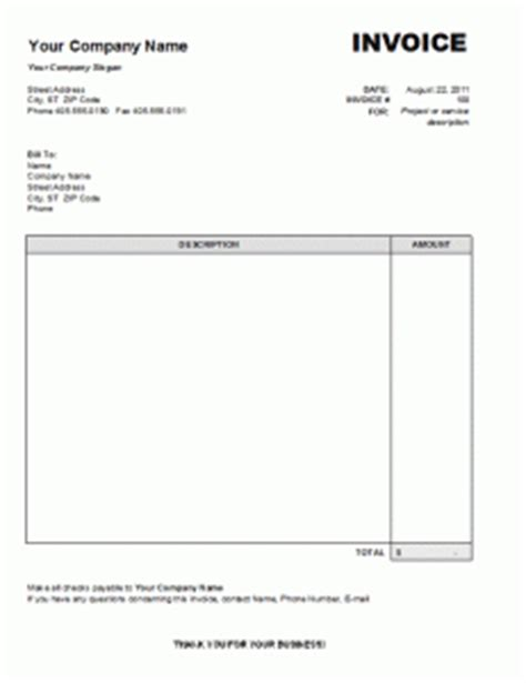 template for services rendered template for invoice invitation template