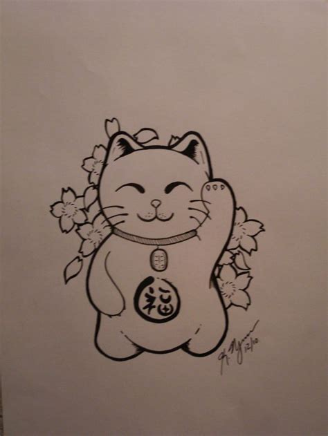 lucky cat tattoos best 25 lucky cat ideas on lucky draw
