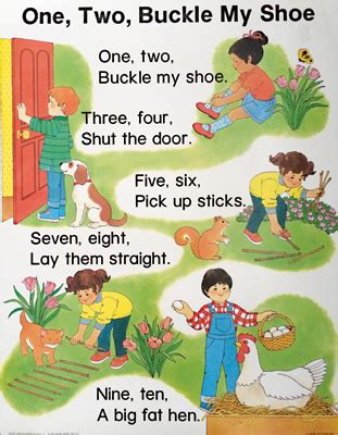 libro one two buckle my dominie one two buckle my shoe chart