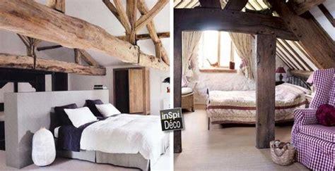 chambres avec poutres apparentes en bois voici 20 exemples