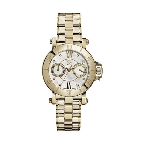 Jam Tangan Wanita Guess New Gold Trail White jual guess collection gc femme x74111l1s stainless jam tangan wanita gold white