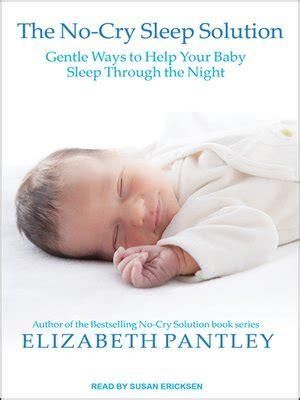 libro the no cry sleep solution elizabeth pantley 183 overdrive rakuten overdrive ebooks