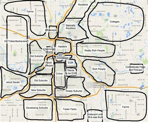 map usa grand rapids map of grand rapids neighborhoods dms