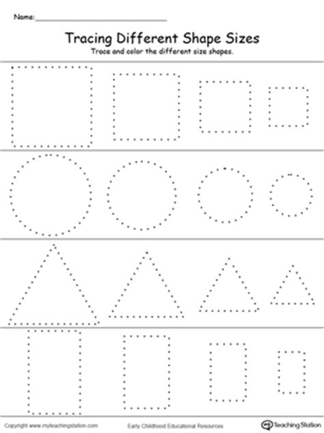 triangle pattern to trace early childhood shapes worksheets myteachingstation com
