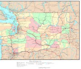 Washington State Highway Map by Washington Political Map