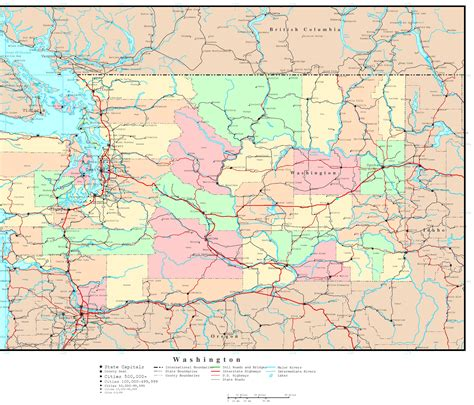 washing state map washington political map