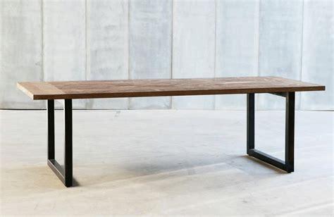 steel esszimmertisch table contemporaine teck m 233 tal m 233 tal noir teck lamin 233