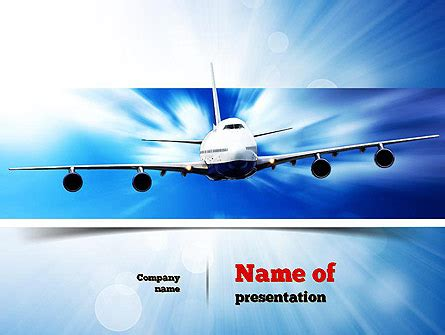 jet aircraft powerpoint template backgrounds 11030