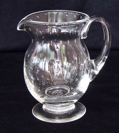 Antique Glass by Antique American Blown Glass Pitcher For Sale