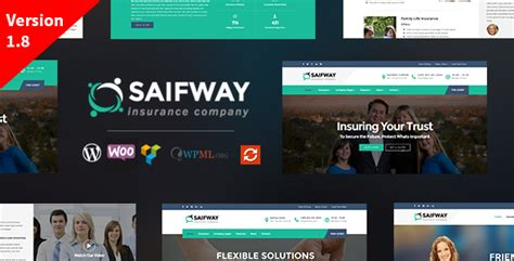 themeforest insurance theme saifway insurance agency wordpress theme by tripples