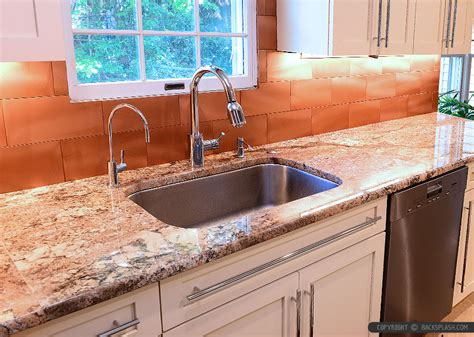 copper kitchen backsplash 6 copper backsplash tile typhoon bordeaux granite