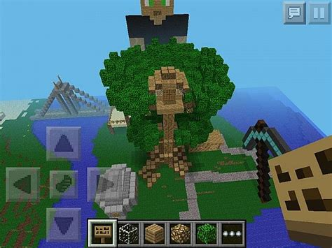 houses for minecraft pe minecraft pe tree house minecraft project