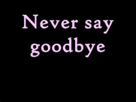 Bon Jovi Never Say Goodbye Lyrics | bon jovi never say goodbye music and lyrics
