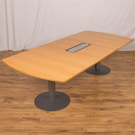 Oak Boardroom Table Kinnarps Oak Veneer 2600x1200 Boardroom Table