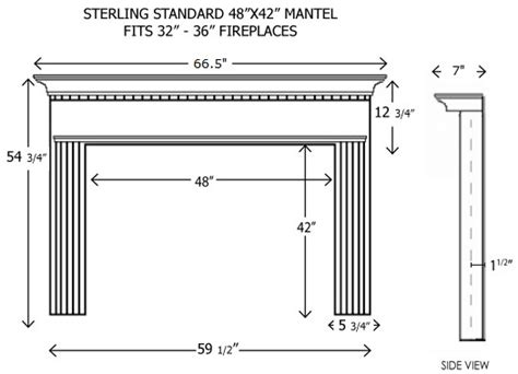 standard mantel height wood fireplace mantels builder mantels sterling