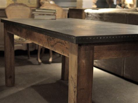 Zinc Dining Table Cornerstone Home Interiors Zinc Dining Room Table